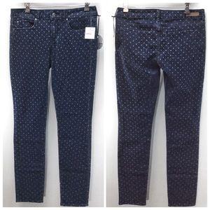 Nordstrom Polka Dot Skinny Stretch Jeans Belted 29